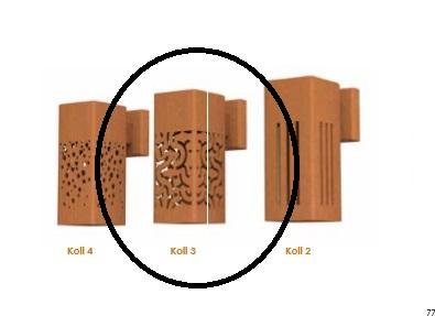 Potmaat | Wandlamp Koll 3 | Verzinkt staal