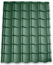 Aquaplan | Aqua-Pan Metalen Dakpanplaat | Groen | 110 x 91 cm