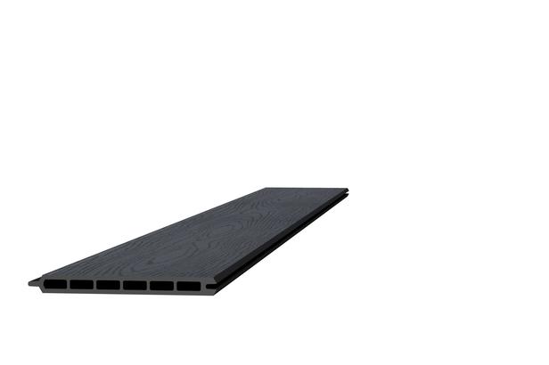 Composiet schermplank | Houtmotief Antraciet | 21 x 195 x 1800 mm