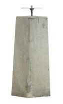 Woodvision | Betonpoer Grijs | 18/15 x 18/15 cm voor paal 14-15 cm