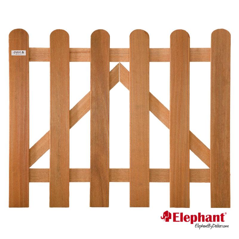 Elephant | Kempas FSC tuinpoort | 100 x 60 cm