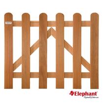 Elephant | Tuinpoort Classic | 100x80 cm | Kempas