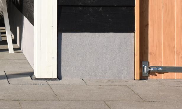 Douglasvision   Trasraam A met grijs stucwerk   178.5x34
