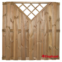 Elephant | Finch tuinscherm trellis | 180x180 cm | Grenen