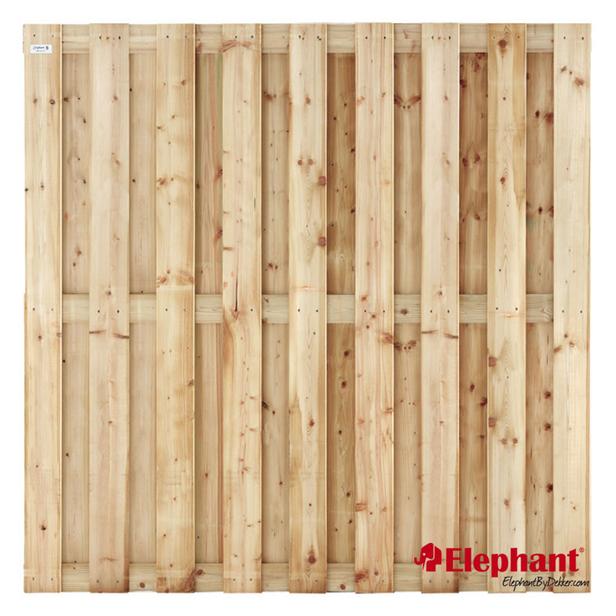 Elephant | Finch tuinscherm | 180x180 cm | Vuren | 17 planks