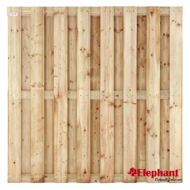 Elephant | Finch tuinscherm | 180x180 cm | Vuren | 15 planks
