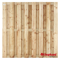 Elephant | Finch tuinscherm | 180x180 cm | Vuren | 15 planks