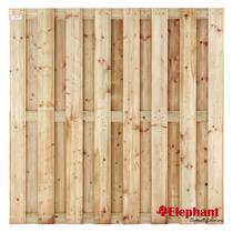 Elephant | Vuren tuinscherm | 15 planks | 180x180