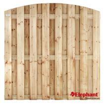 Elephant | Vuren tuinscherm met toog | 15 planks | 180x180