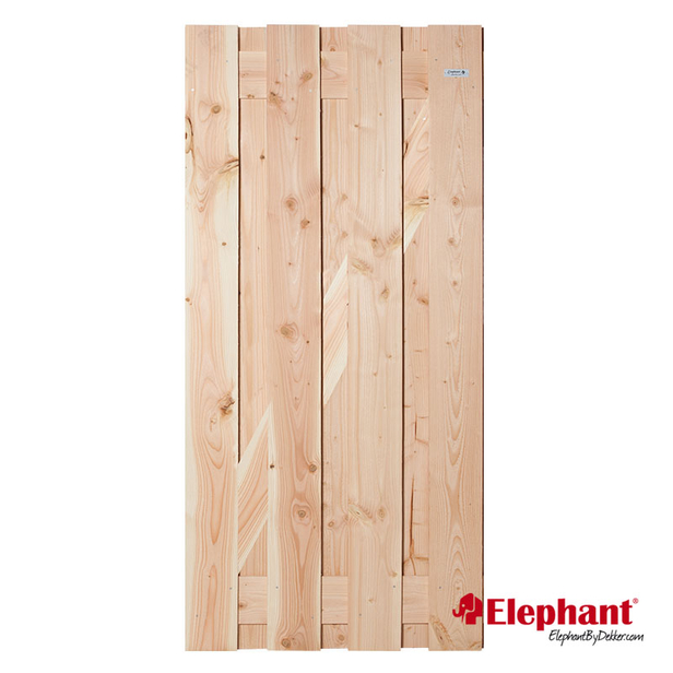 Elephant | Timber tuindeur | 90x180 cm | Douglas