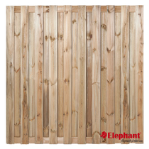 Elephant | Finch tuinscherm | 180x180 cm | Grenen | 19 planks