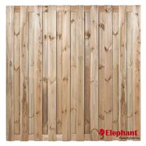 Elephant | Finch tuinscherm | 180x180 cm | Grenen | 19 planks