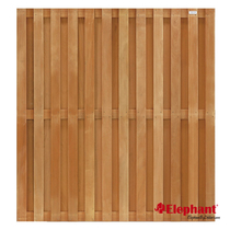 Elephant | Tuinscherm | 180x180 cm | 23 planks | Keruing