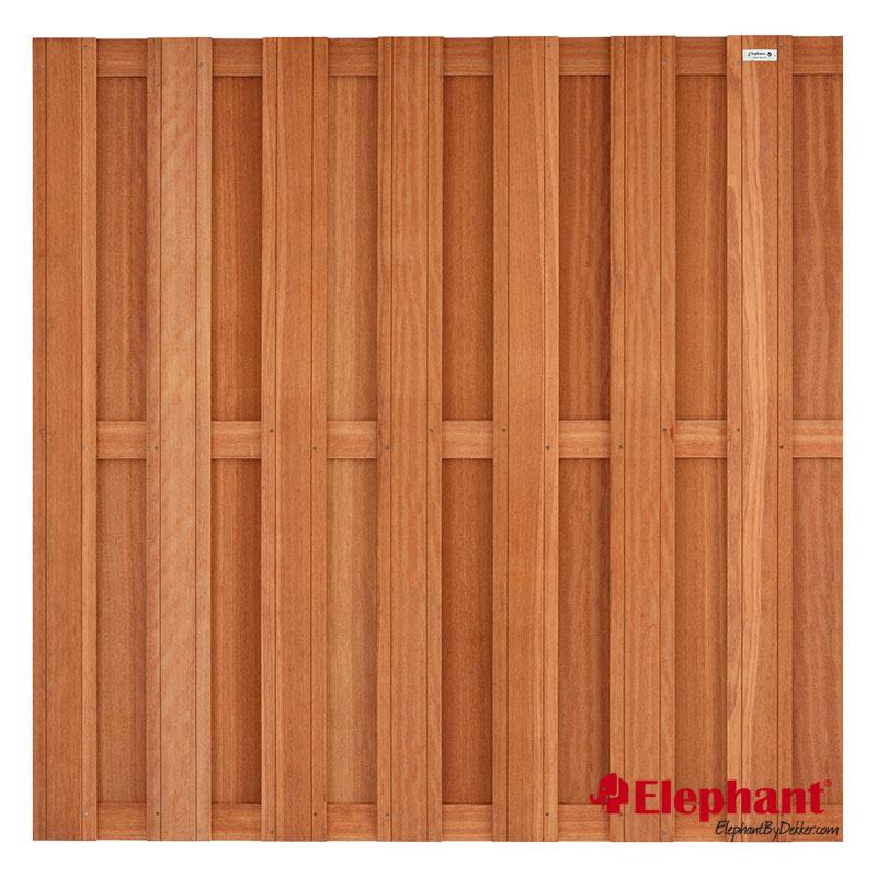 Elephant | Tuinscherm | 180x180 cm | 14 planks | Kempas