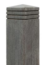 Vintage| Bangkirai palen met diamantkop | 90 x 90 mm  | 190 cm