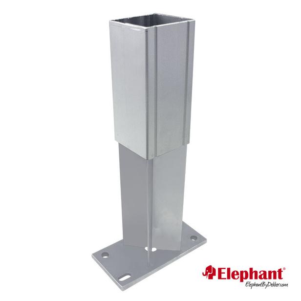 Elephant | Paalhouder insteek met voet | 88x88 mm
