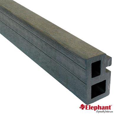 Elephant | Regel- en kantafwerking | 30x50 mm | 225 cm | Antraciet | 2 stuks