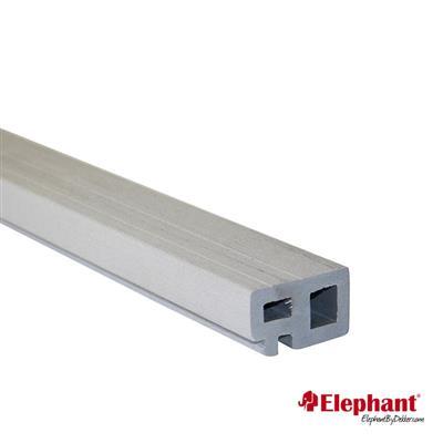 Elephant | Regel- en kantafwerking | 30x50 mm | 225 cm | Grijs | 2 stuks
