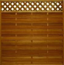 FelixWood | Elegant tuinscherm 180x180cm | Bangkirai met raster