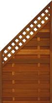 FelixWood | Elegant tuinscherm 180/ 90x90cm | Bangkirai met raster