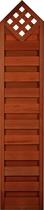 FelixWood | Elegant tuinscherm 180/ 200 x 180 x 40 cm | Bangkirai met raster