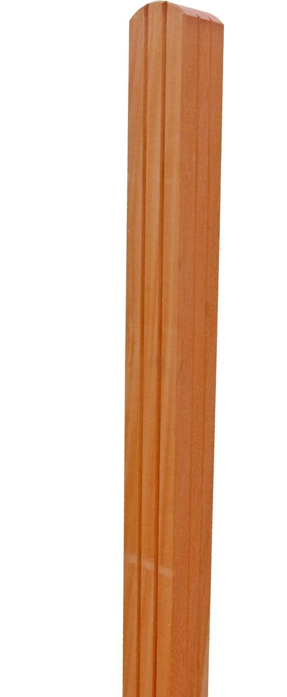 FelixWood | Bangkirai palen met ronde kop | 90 x 90 mm | 195 cm