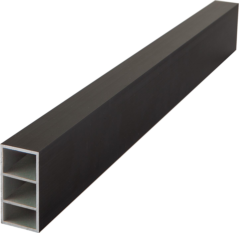 Felixwood | Aluminium Onderregel | Zwart | 24 x 40 mm