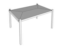 Gardival | Luna basis met zeil, rondom open | 300x300 cm