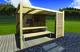 Gardival | Luna basis met zeil, rondom open | 400x300 cm