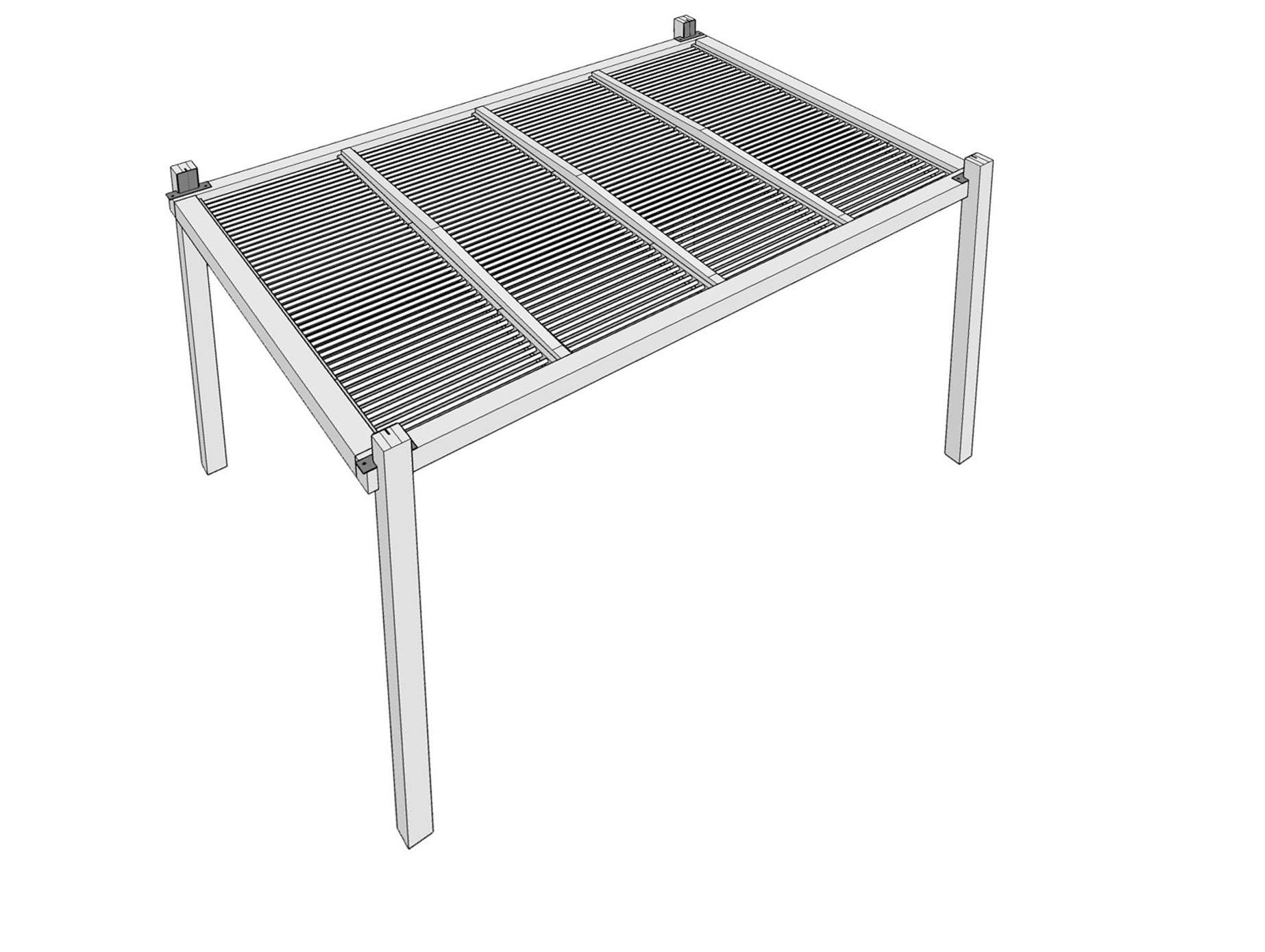 Gardival | Luna basis met dakpanelen, rondom open | 300x300 cm