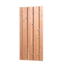 Carpgarant | Douglas poort op stalen frame | Linksdraaiend | 100 x 195cm