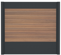 IdeAL | Scherm Antraciet - Symmetry Warm Sienna | 180x180 | 9 planks