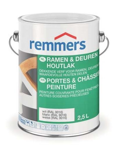 Remmers | Ramen & Deuren Houtlak | 9016 Wit | 0,75 L