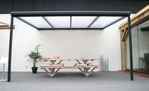 Westwood | Aluminium Terrasoverkapping Bella 404.5x250 | Creme-wit