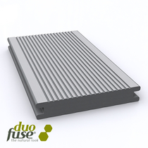 Duofuse | vlonderplank massief | fijn/grof geribbeld | 23 x 140 | 400cm | Graphite Black