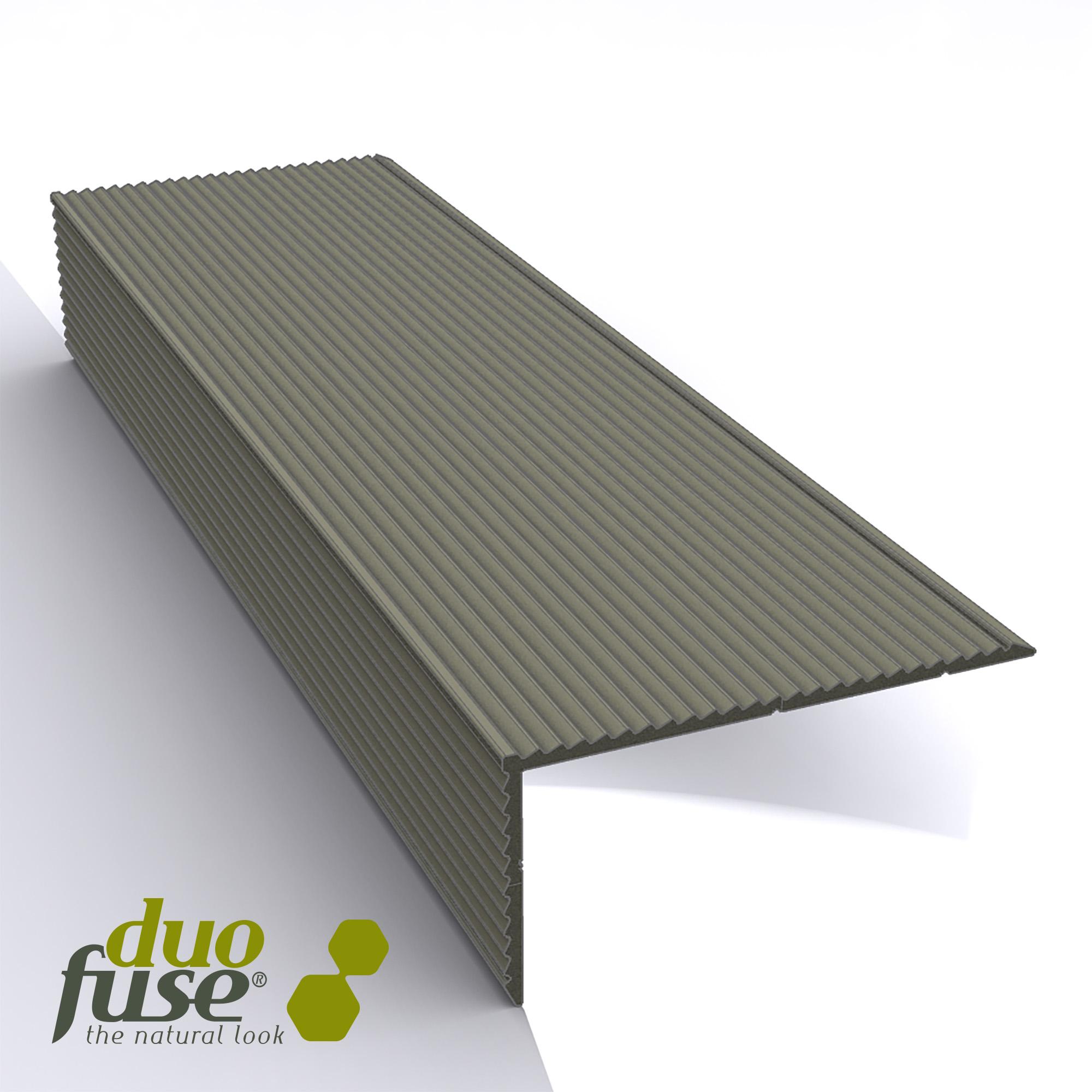 Duofuse | Aluminium L-profiel | 400cm | Tropical Brown