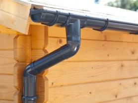 S-Lon | PVC Dakgoot Lessenaarsdak GD16 | Antraciet | Verlengset 175 cm
