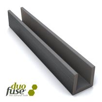 Duofuse | Klein U-profiel 2,7 x 3,5 cm  | 202 cm | Stone Grey