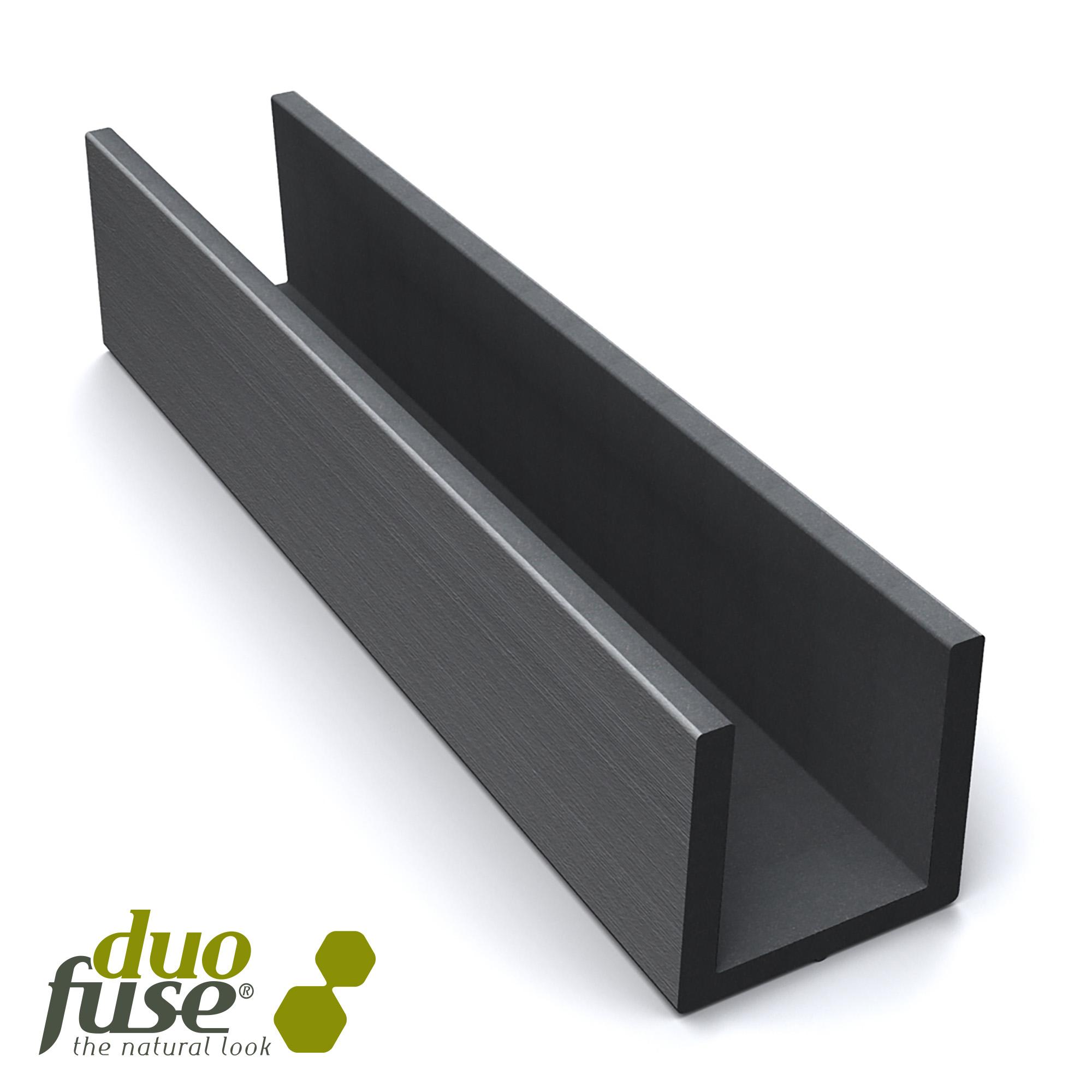 Duofuse | Groot U-profiel tbv betonplaat 4,2 x 3,5 | 182 cm | Stone Grey