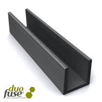 Duofuse | Groot U-profiel tbv betonplaat  4,2 x 3,5 | 182 cm | Tropical Brown