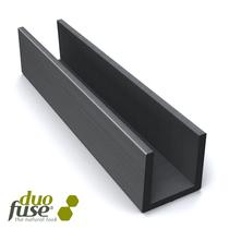 Duofuse | Groot U-profiel tbv betonplaat  4,2 x 3,5 | 182 cm | Graphite Black