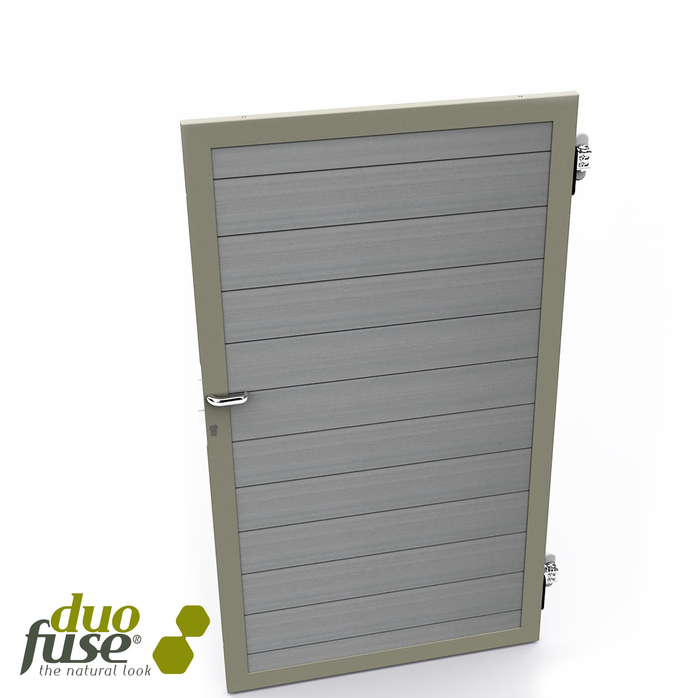 Duofuse | Composiet poort/deur | 200 cm | Graphite Black