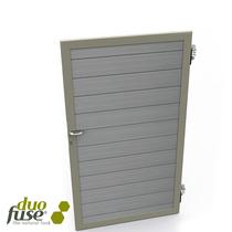 Duofuse | Composiet poort/deur | 180 cm | Graphite Black