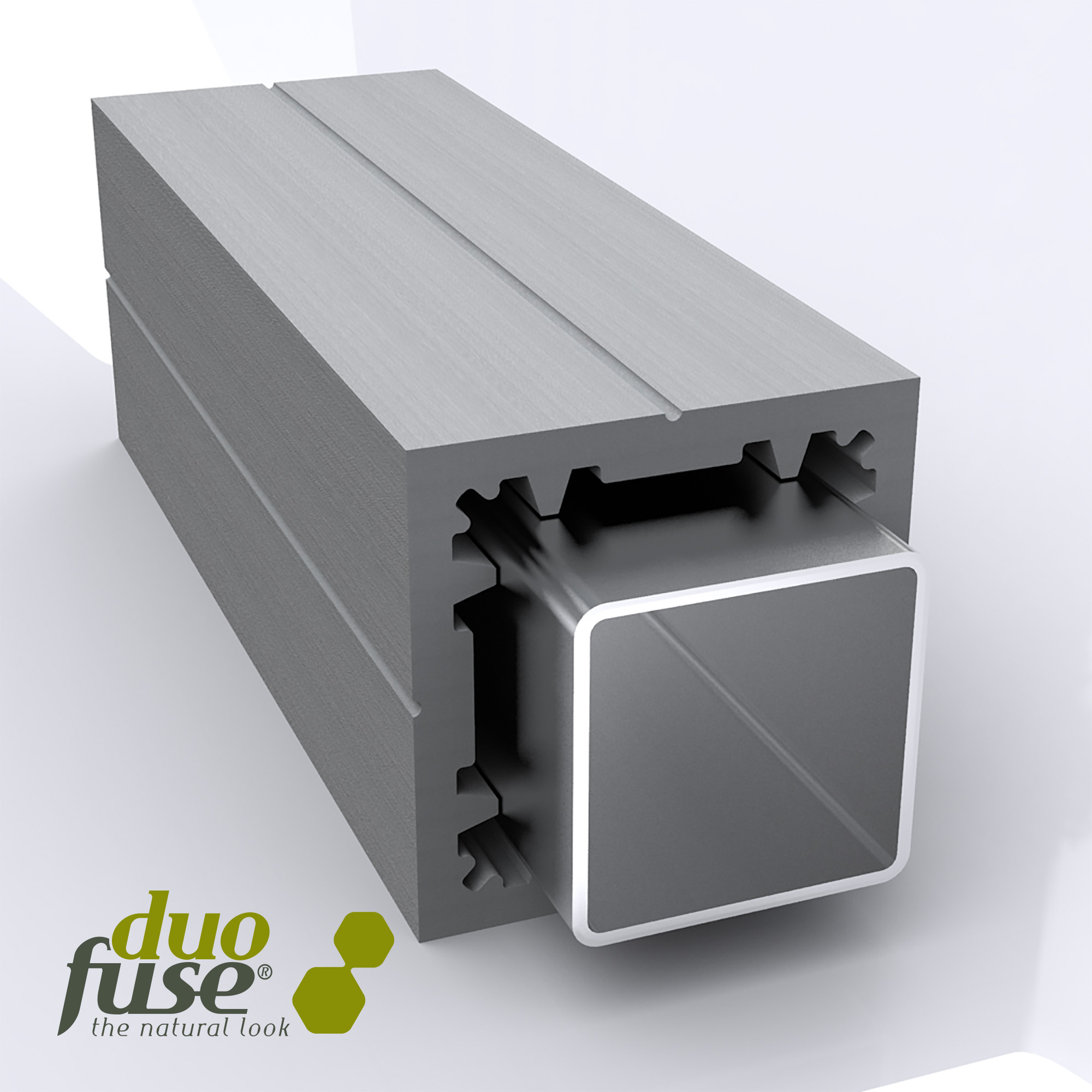 Duofuse | Composiet poortpaal | Graphite Black