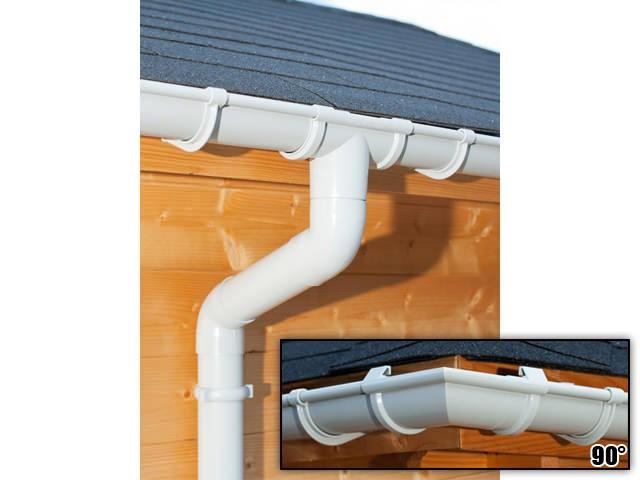 S-Lon | PVC Dakgoot Vierhoekig dak GD16 | Grijs | 14-17.5 m