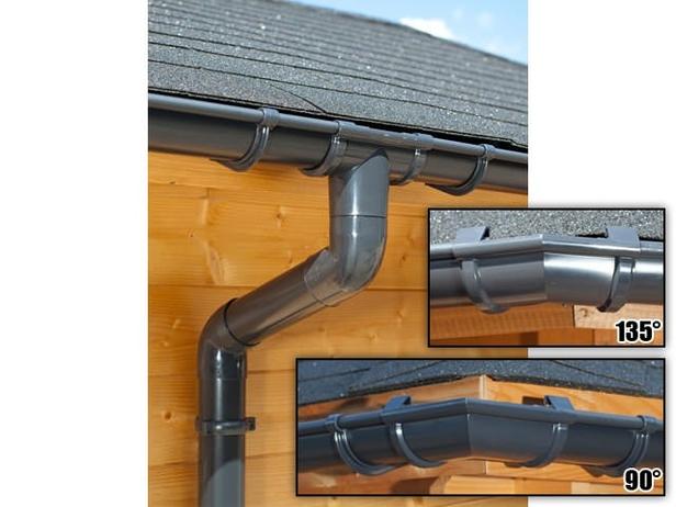 S-Lon | PVC Dakgoot Vijfhoekig dak GD16 | Antraciet| 12.25 m