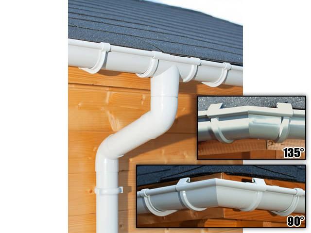 S-Lon | PVC Dakgoot Vijfhoekig dak GD16 | Grijs | 12.25 m