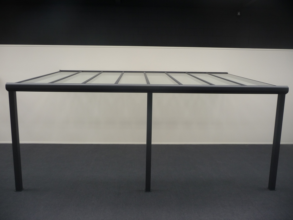Deponti | Aluminium Terrasoverkapping Pigato 606x250 | Creme-wit