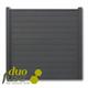 Duofuse | Tand- en groefscherm | 180 x 180cm  | Graphite Black