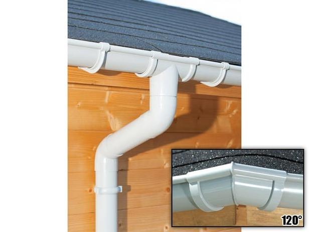 S-Lon   PVC Dakgoot Zeshoekig dak GD16   Grijs   10.5-14 m